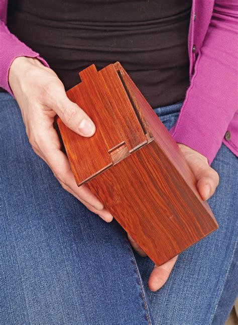 clever puzzle boxes woodworking project woodsmith plans