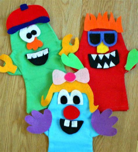 monster puppets fun family crafts