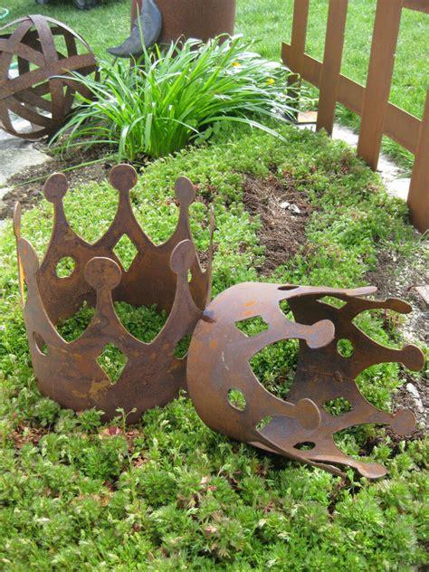 garten rost deko edelrost krone kronen zur wahl dekoration garten rost eisen metall tischdeko ebay