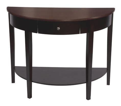 half round hall table bay shore collection large half moon round hall table with