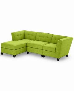 harper 3 piece modular with chaise custom colors With harper sectional sofa macy s