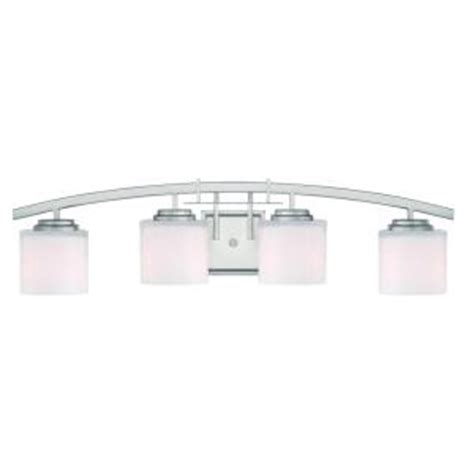 Home Depot Bathroom Lighting Brushed Nickel by Hton Bay Architecture 4 Light Brushed Nickel Vanity