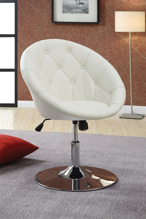 white desk and chair modern uphosltered white leather swivel desk chair with