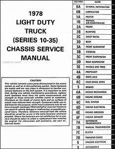 1978 Chevy Truck Shop Manual Pickup Blazer Suburban Van