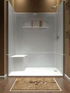54 Acrylic Bathtub One Piece Shower Stalls With Seat One