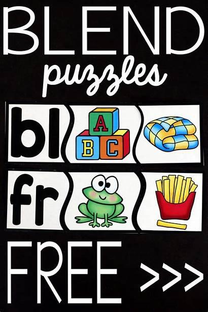 Blend Puzzles Playdoughtoplato Reading Kindergarten Activities Grade