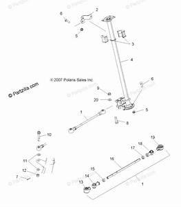 Polaris Atv 2008 Oem Parts Diagram For Steering  Steering Post