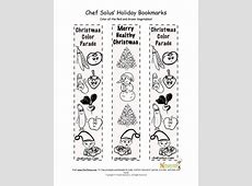 Holidays 12 Bookmark Healthy Christmas Coloring Page for Kids