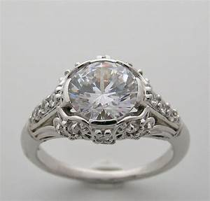 Ring settings antique art deco engagement ring settings for Vintage wedding ring settings