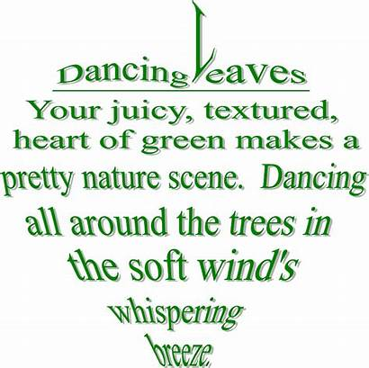 Personification Leaves Dancing Nature Poetry Poems Poem