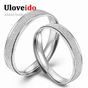 engravable fashion designer simple wedding rings pair With frosted wedding ring