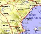 Map of Costa del Azahar