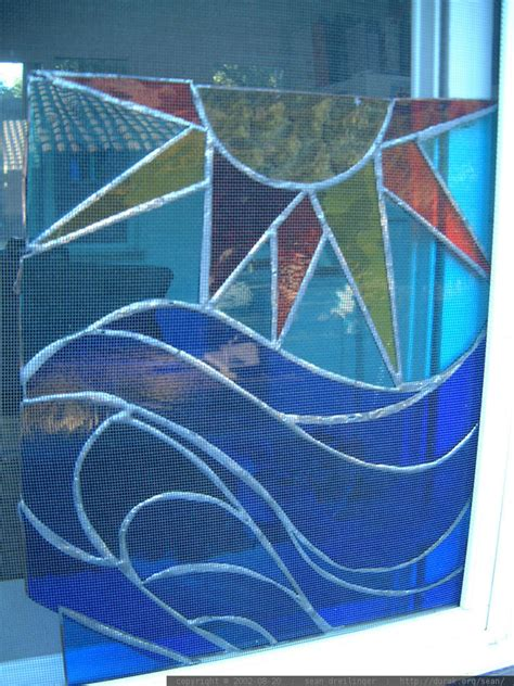 photo sun  ocean stained glass  kathleen fischer
