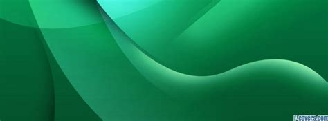 emerald green abstract waves facebook cover timeline photo