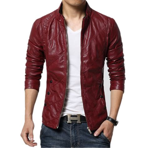 best bike jackets autumn soft faux leather jackets men 2017 fashion solid
