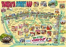 Tokyo Metro Map vs Geography [OC] : dataisbeautiful