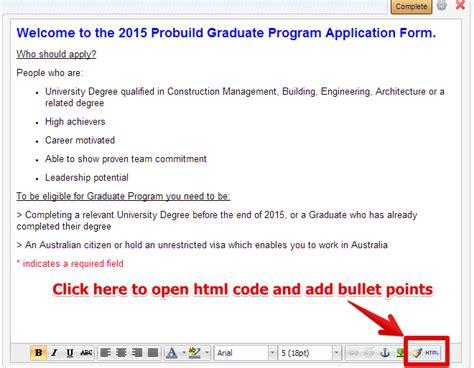 bullet form add bullet points to html jotform