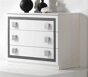 Commode 3 Tiroirs : commode 3 tiroirs thema blanc ~ Teatrodelosmanantiales.com Idées de Décoration