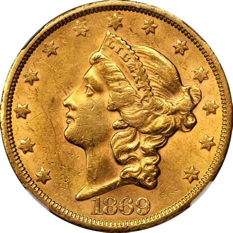 Value of 1869-S $20 Liberty Double Eagle   Sell Rare Coins