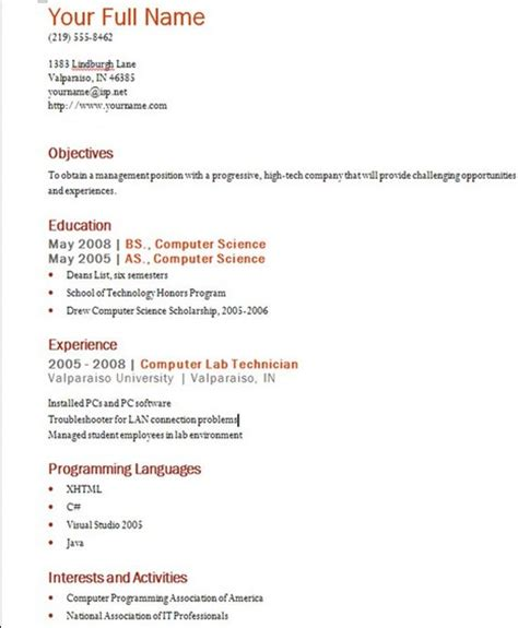 resume format software developer worksheet printables site