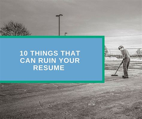 10 common mistakes that can ruin your resume