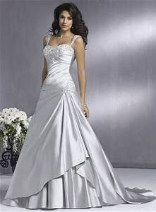 A wedding addict silver wedding dress with soft sweetheart for Silver dresses for a wedding
