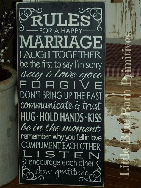 rules   happy marriage wooden sign  storenvy