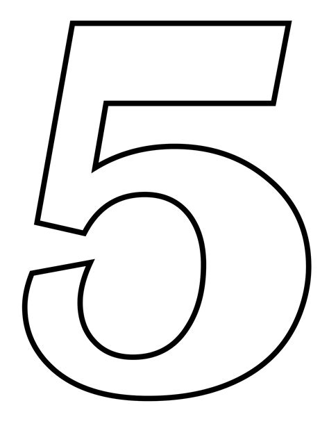 numbers black and white number 5 black and white www pixshark images