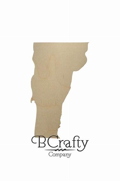 Vermont State Shape Wooden Cutout Shapes Wood