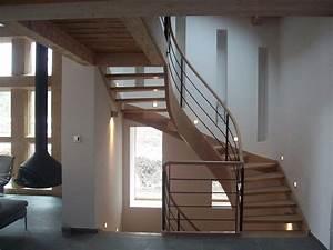 Escalier 3 4 Tournant : escalier bois lyon escalier bois ain adibois ~ Dailycaller-alerts.com Idées de Décoration