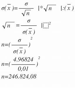 Fehlerquote Berechnen : messreihe mit standardabweichung berechnen mathelounge ~ Themetempest.com Abrechnung