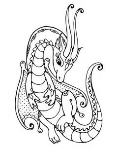 Girly Dragon Coloring Pages