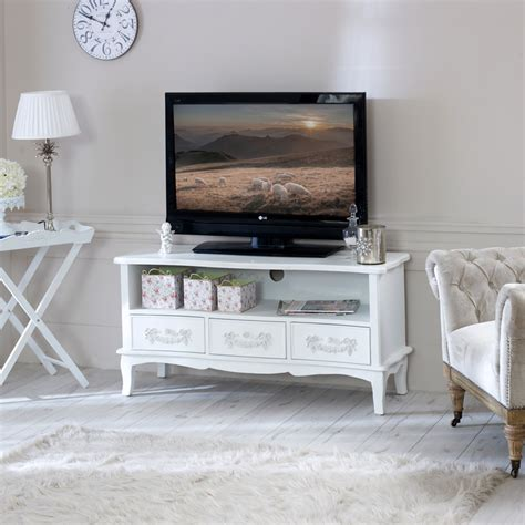 shabby chic dvd storage tv cabinet unit white shabby cupboard chic television stand dvd lounge living ebay