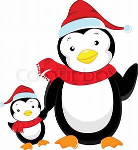 Cute penguin cartoon | Stock Vector | Colourbox