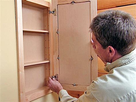 making a medicine cabinet how to attach a pre fabricated medicine cabinet how tos