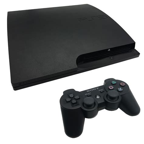 console ps3 playstation 3 320gb slim black console pre owned the