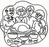 Coloring Thanksgiving Dinner Turkey Pages Happy Clipart Cliparts Dinners Popular Clipartpanda Meal Clip Library Cake Designs Favorites sketch template