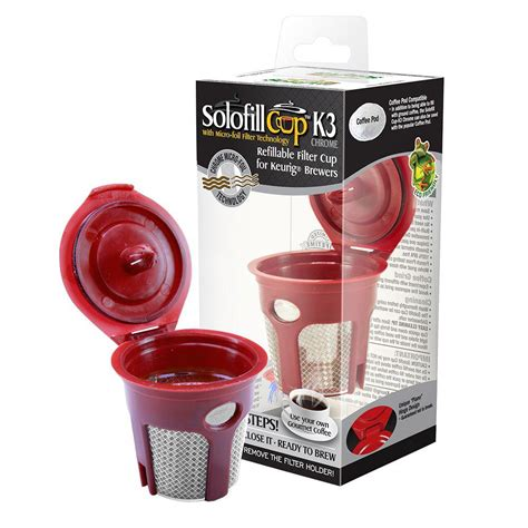 Shop ekobrew elite reusable filter for keurig single cup brewers stainless steel at best buy. Solofill Refillable Reuseable K-Cup for Keurig Brewing ...
