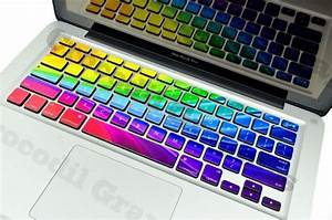 Rainbow Keyboard Stickers For Macbooks | The Coolest Stuff ...