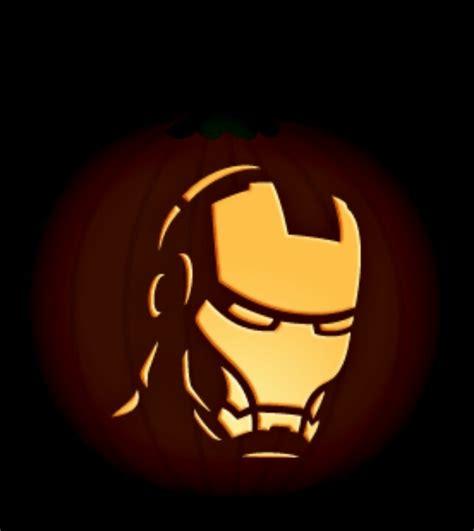 iron pumpkin stencils iron man pumpkin halloween pinterest