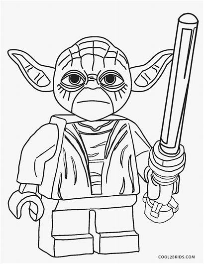 Wars Star Coloring Pages Lego Printable