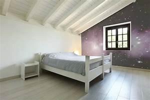 Papier Peint Espace : papier peint vue de l 39 espace dans une chambre ~ Preciouscoupons.com Idées de Décoration