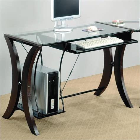 coaster division l shape computer desk unit in cappuccino