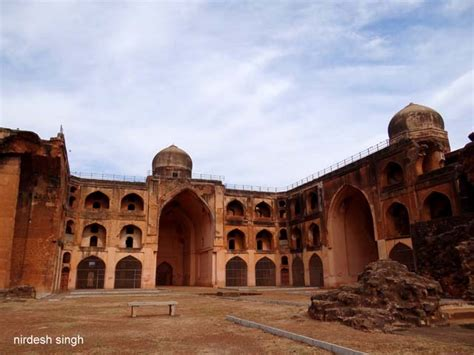 khwaja mahmud gawan madrasa view   shattered