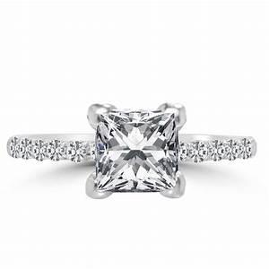 12 ct princess cut diamond engagement ring vs2 f 14k for 1 ct wedding ring