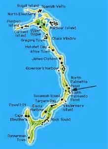 Eleuthera Bahamas Map
