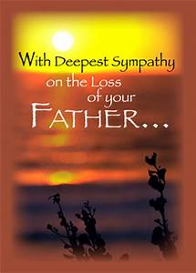 Card For Condolences Sorry For Loss Of Father Quotes Quotesgram