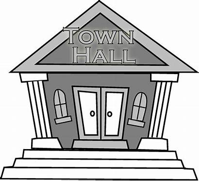 Hall Town Clipart Meeting January Municipal Building