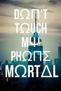 Percy Jackson Don't Touch My Phone