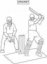 Cricket Coloring Pages Printable Sport Sports Drawing Colouring Print Game sketch template